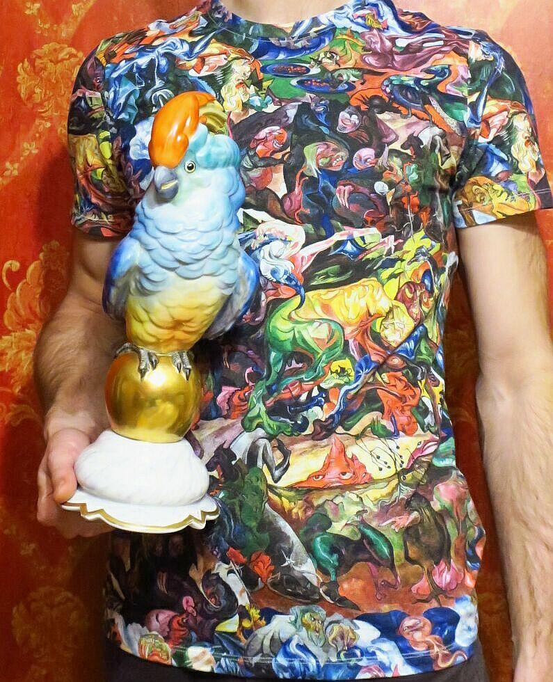 Meidicine  Eviva l'arte Witkacy z kolorową papugą